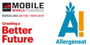 Imagen Mobile world congress con la startup Allergeneat